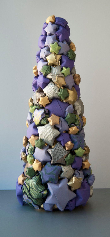 Как сделать объемные звездочки на елку из бумаги