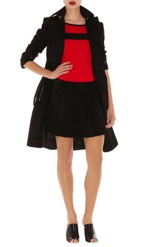 Modern colourblock check knit colourblock sleeveless knit dress with