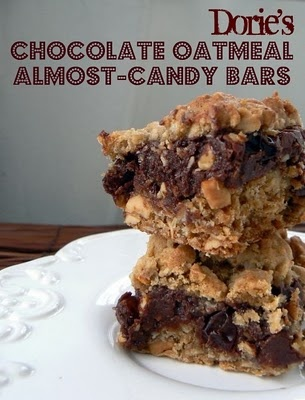 Chocolate Oatmeal Almost-Candy Bars | Cookies & Bars | Pinterest
