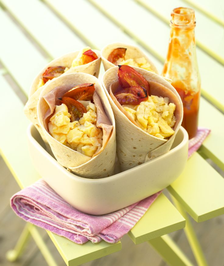 Scrambled eggs with a little kick, like these Mexican egg wraps, are ...