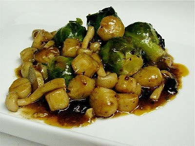 Scallops in Black Bean Sauce. Sub bokchoy for brussel sprouts and ...