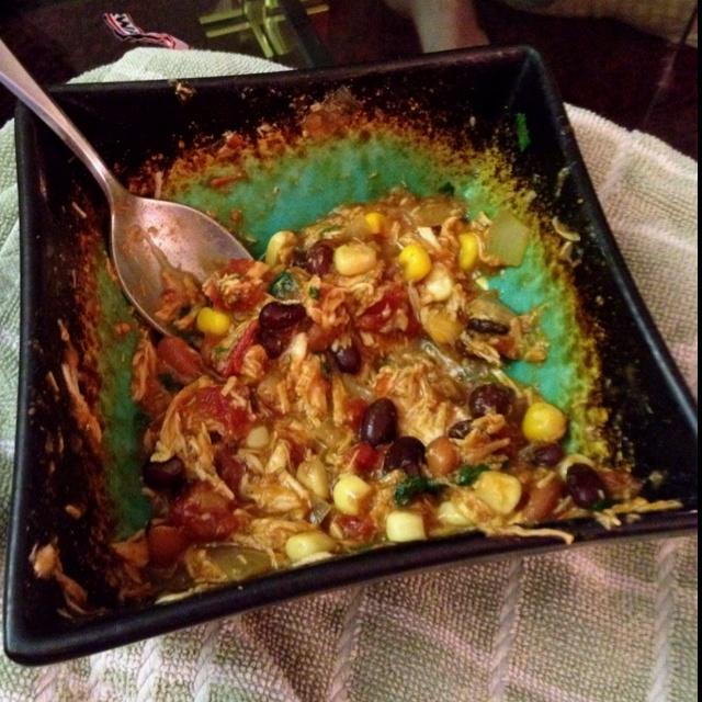 Low fat crock pot chicken taco chili... | Health Nut | Pinterest