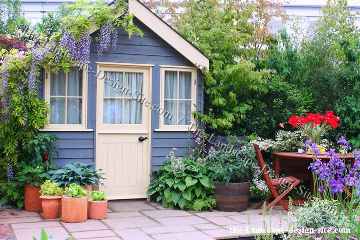 Pin by nita hiltner on garden sheds pinterest for Cottage garden design