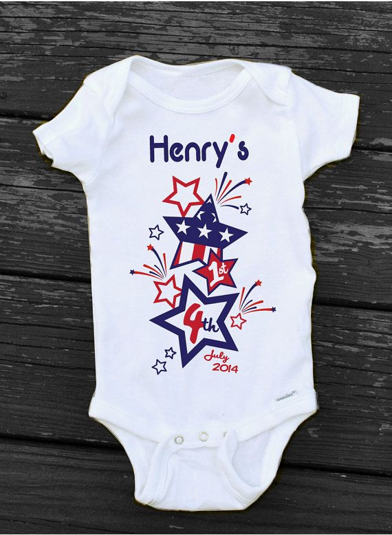 newborn baby boy fourth of july outfit
