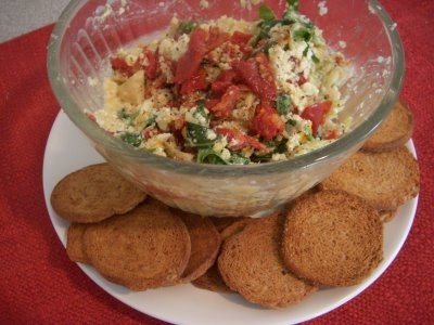 Sun-Dried Tomato and Artichoke Dip | Appetizers | Pinterest