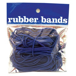 Nautical blue rubber bands from Office Depot and Swinton Avenue Trading, Ltd., Inc.