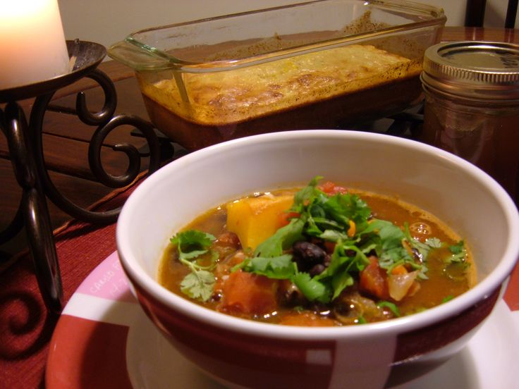 Black bean butternut squash soup | Souper | Pinterest