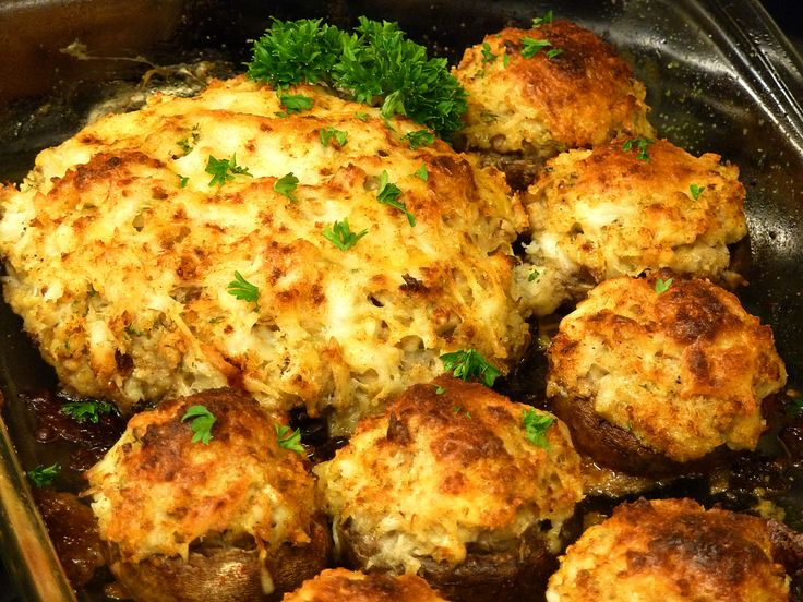 Crab Stuffed Mushrooms Recipe | Fish and Sea Food | Pinterest