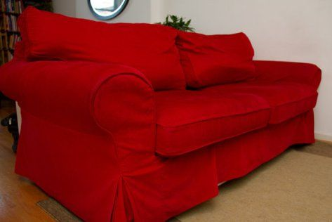 Red Sofa Slipcovers Living Room Pinterest
