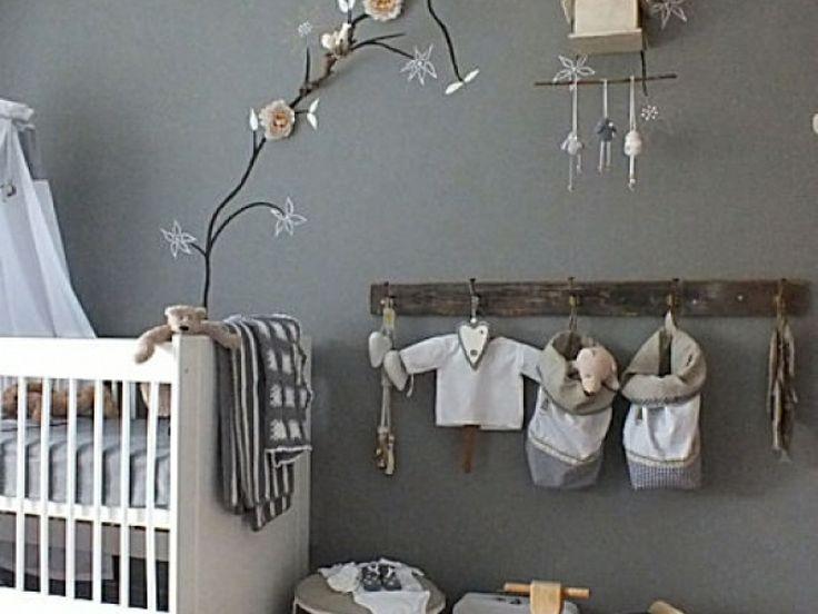 Baby Slaapkamer Ideeen : Grey nursery Mom ideas Pinterest