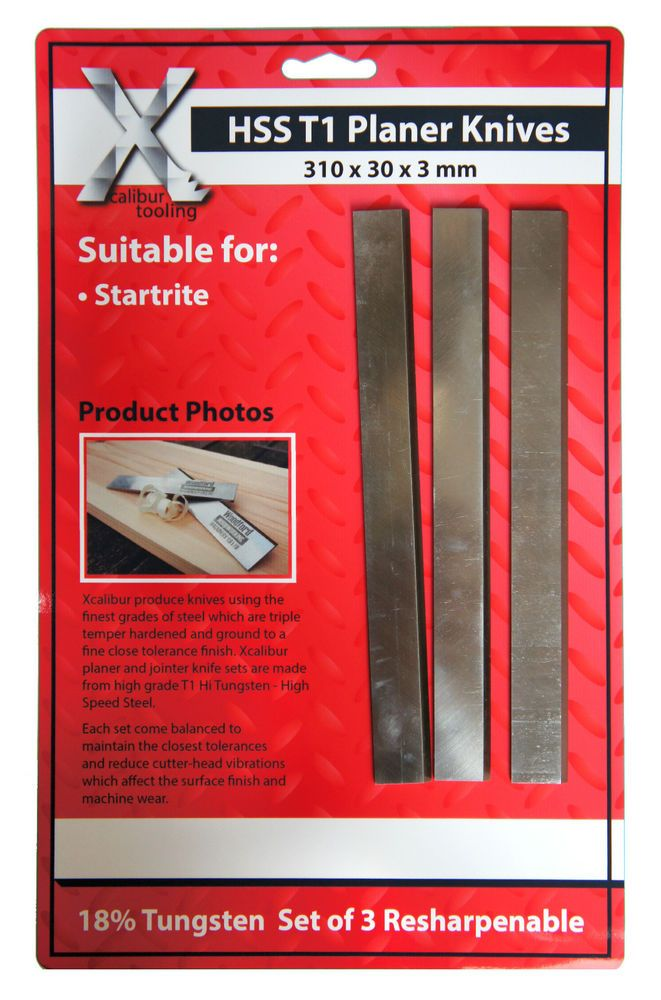 310mm Startrite Planner Blade Knives Set of 3 Inc Vat