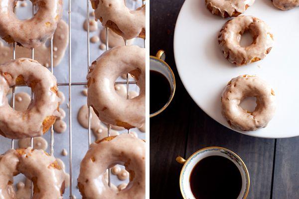 Maple Cinnamon Glazed Baked Pumpkin Doughnuts | from The Sunday ...