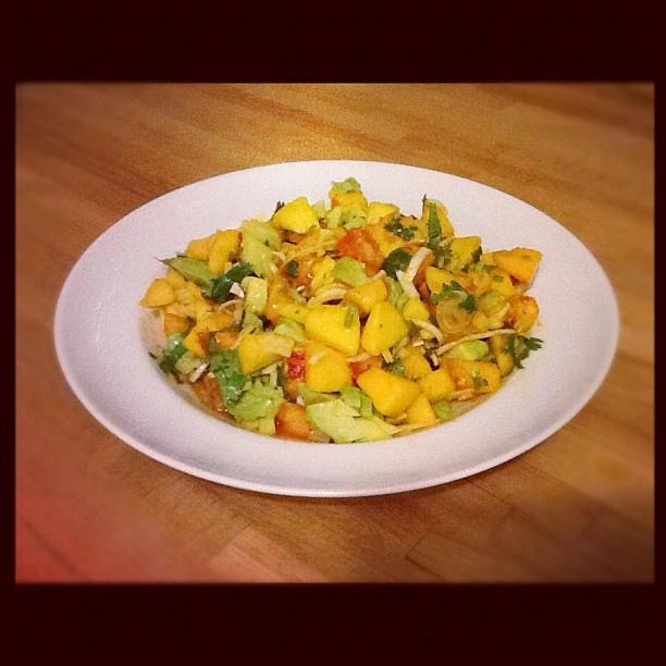Peach, Nectarine, Avocado, Fennel, Leek, Lime, & Cilantro Salad ...