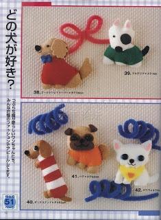 Casinha dos moldes: Molde cachorros