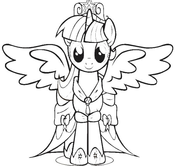 Twilight Sparkle Coloring Page Intended To Invigorate To Princess Twilight Sparkle Coloring Pages