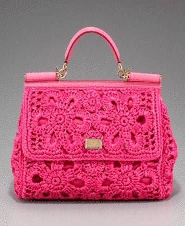 Pink Crochet Designer Bags For The Love Of Pink! Pinterest