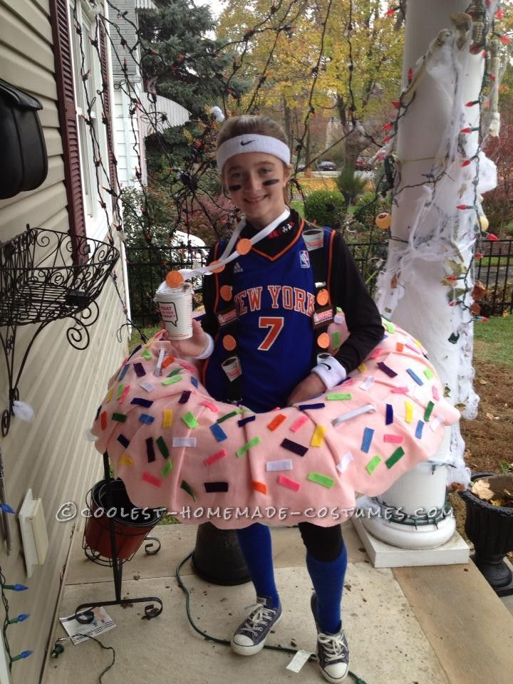 Coolest Dunkin Doughnut Costume for a Girl... Homemade Costume Contest