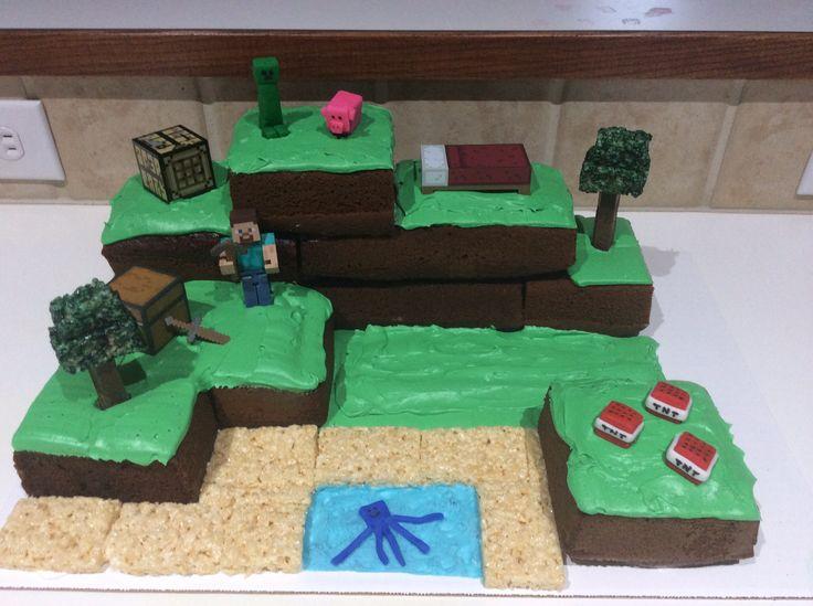 Minecraft Cake Birthday cakes Pinterest