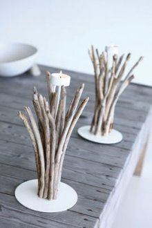 funky purses Driftwood candle holders  ideas