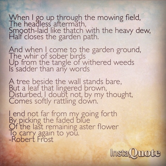 Mowing by robert frost