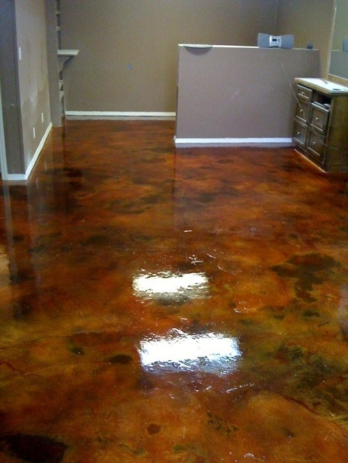 staining concrete dream home pinterest
