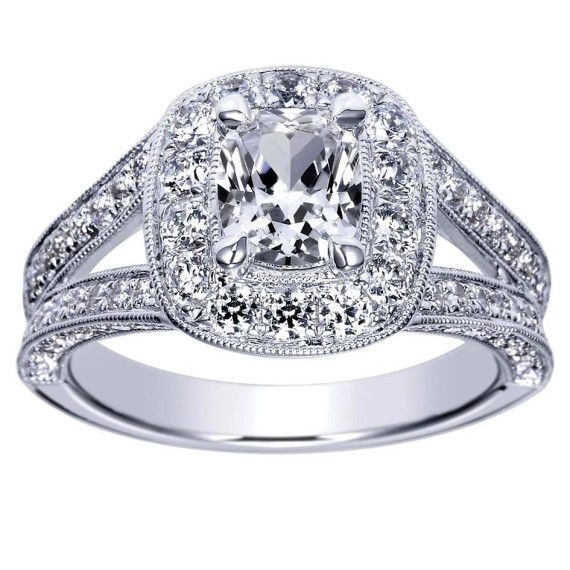 Cushion Cut Diamond Cushion Cut Diamond Split Shank Settings