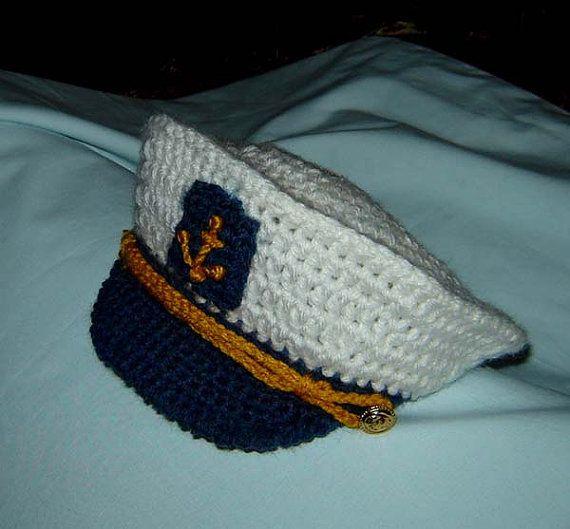 Little Captain, Sailor Cap/Hat and Tie, Newborn, Baby ...