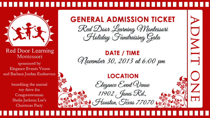 event ticket design for holiday gala party ideas invitation desig