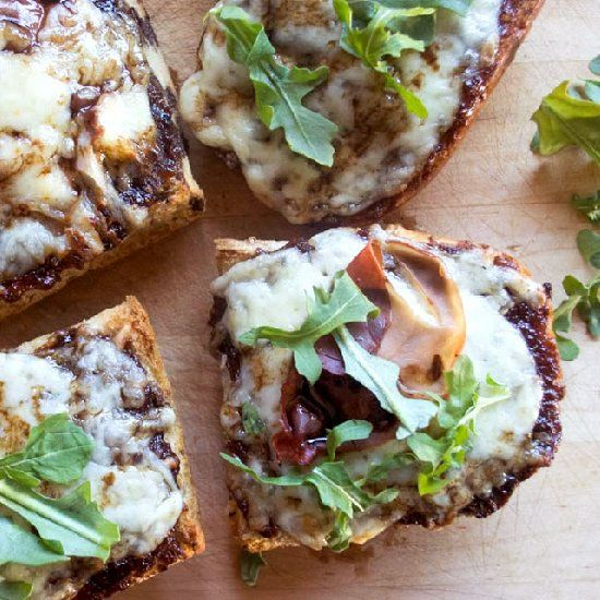 ... Fontina French Bread Pizza topped with homemade Balsamic Reduction