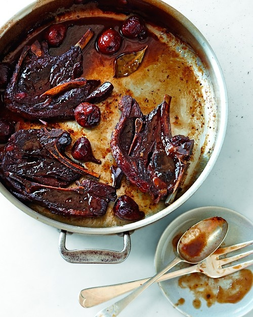 Braised Lamb Chops with Red Wine and Figs - Martha Stewart Recipes