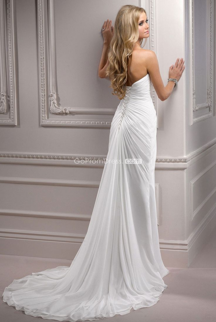 trendy Empire Sweetheart Lace-up Back Sweetheart Wedding Dress