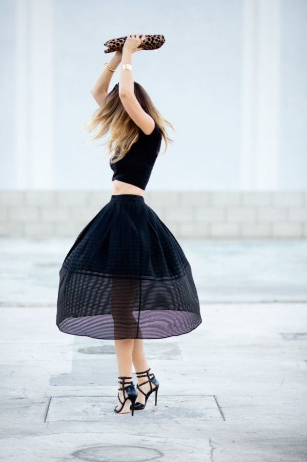 crop top midi skirt outer