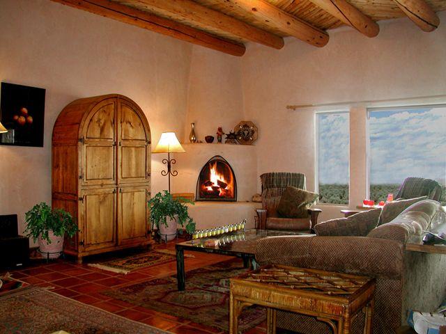 Santa fe style interiors pinterest for Santa fe decorations home