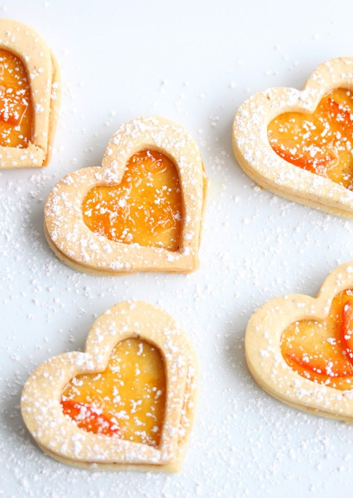 Marmalade Linzer Heart Cookies! So pretty!