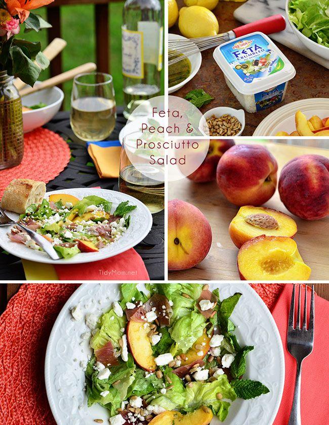 Feta, Peach Prosciutto Salad recipe at TidyMom.net Dine Perfect for al ...