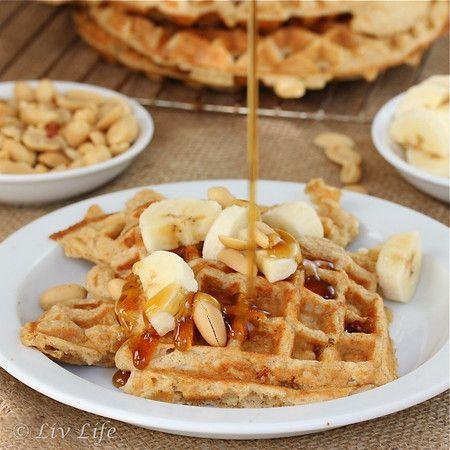 Peanut Butter Waffles | Breakfast * Best meal of the day! | Pinterest