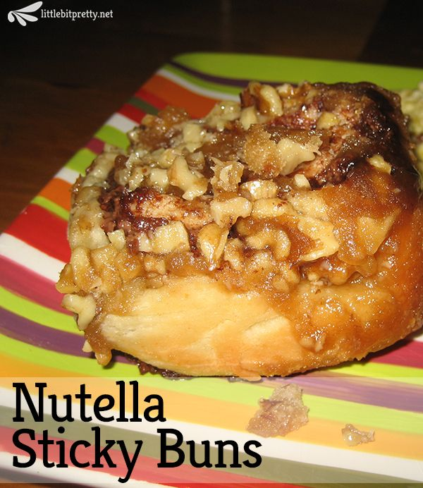 Homemade Nutella Sticky Buns - gooey, chocolatey and perfect for ...