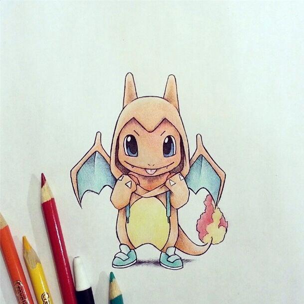 Charmander in Charizard Hoodie | Pokemon :) | Pinterest