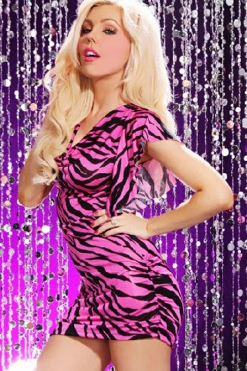 Zebra And Pink Prom Dresses 13