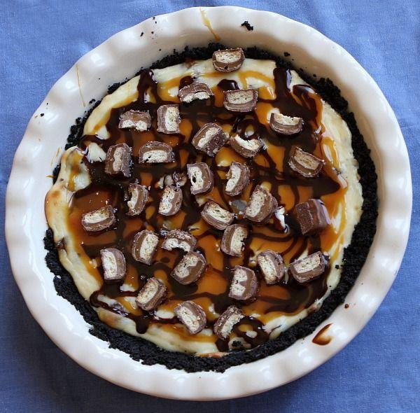Twix Bar Cheesecake Pie #recipe | RecipeGirl/RecipeBoy Recipes ...