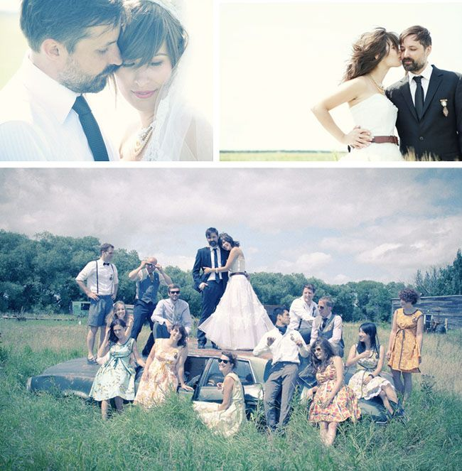 Hipster Backyard Wedding : Real Wedding Angie + Tyson?s Fun Backyard Wedding