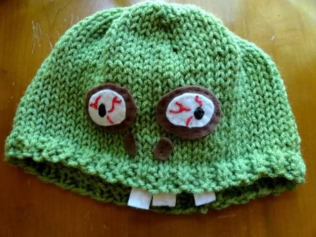Crochet Zombie Hat : zombie hat