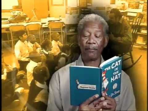 "Morgan Freeman reading an excerpt from ""The Cat in the Hat"" by Dr. Seuss."