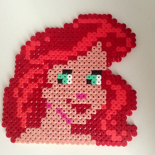 ariel perler by perler bead ideas crafts