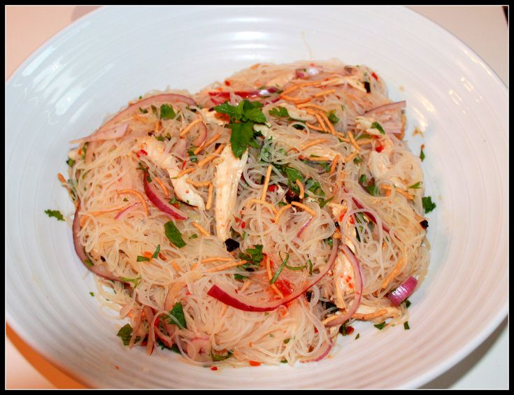 Thai Noodle & Chicken Salad | Feeding your Appetite Blog Recipes | Pi ...