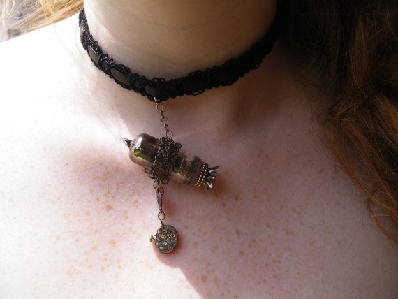 Steampunk  Zeppelin Pendant Chocker Necklace by ArtfulAnthropology, $30.00