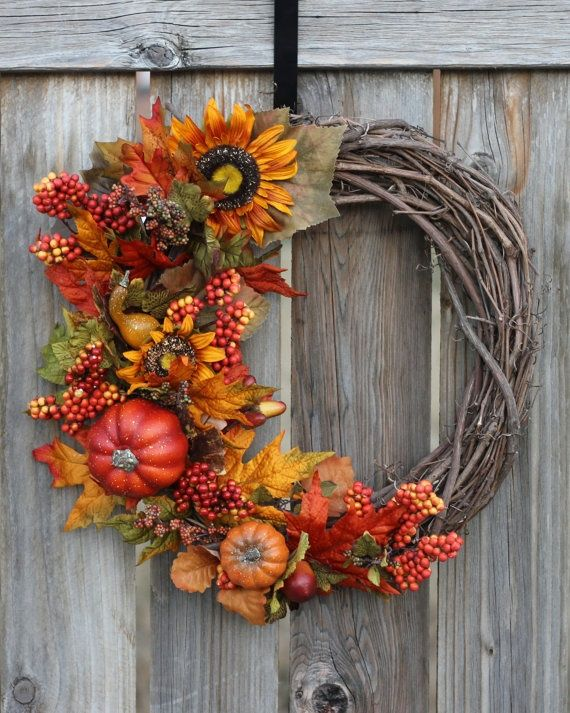 Fall wreath craft ideas craftiness pinterest Fall autumn door wreaths