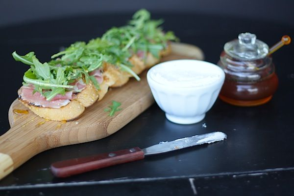 Peach & Prosciutto Bruschetta Recipe — Dishmaps