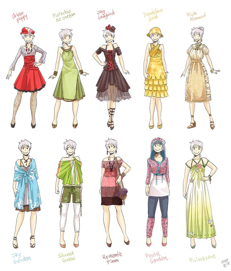Clothing design drawings