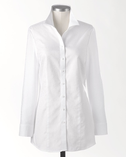 White No Iron Blouses 108